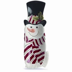Fitz and Floyd Snack Therapy SnowmanServer NWT